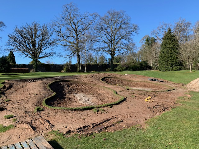 Revetted Turf Edge Laid Out