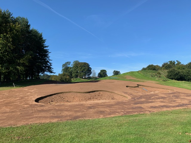 New Edenderry 8th Green Awaiting Bunker Liner Installation